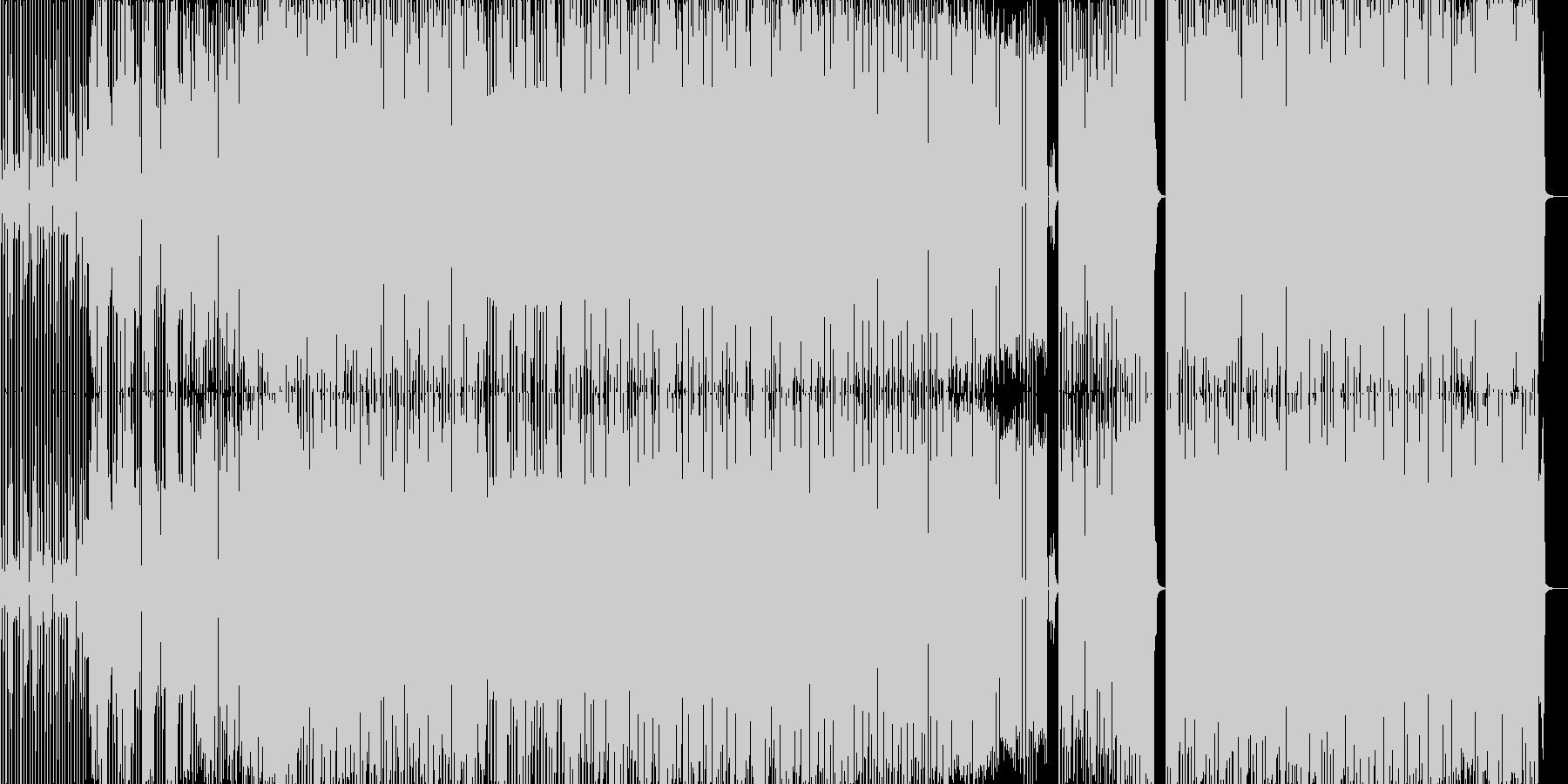 ノリノリのダンスミュージックの未再生の波形