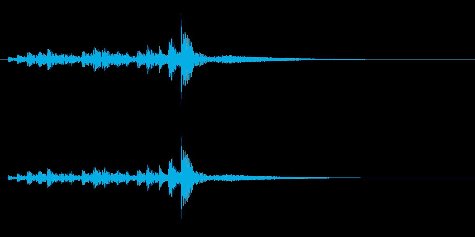 うちわ太皷の連打のフレーズ音+Fxの再生済みの波形