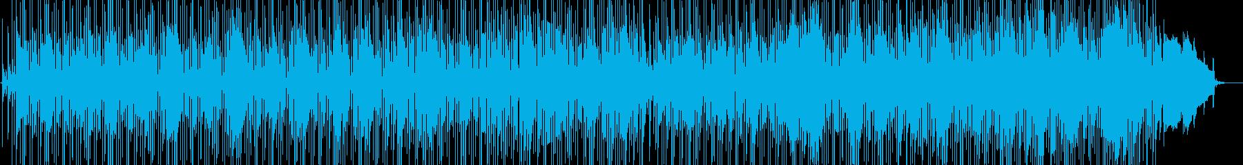 ムーディーなボサノバBGMの再生済みの波形