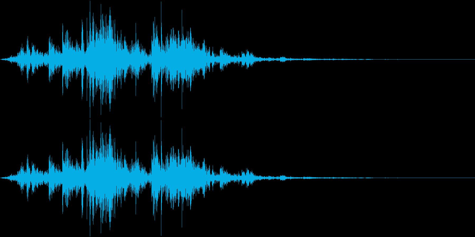 鎖を動かす音12【短い】の再生済みの波形