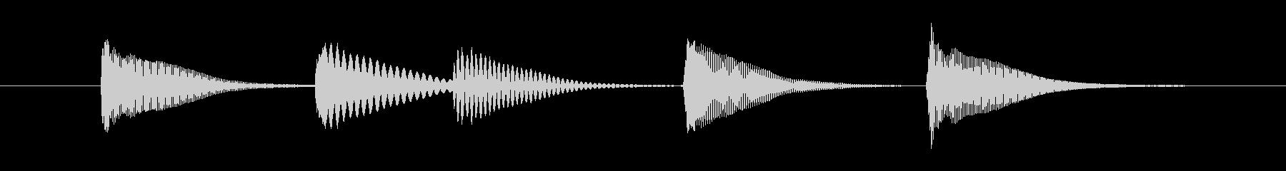 可愛いマリンバの音シリーズの未再生の波形