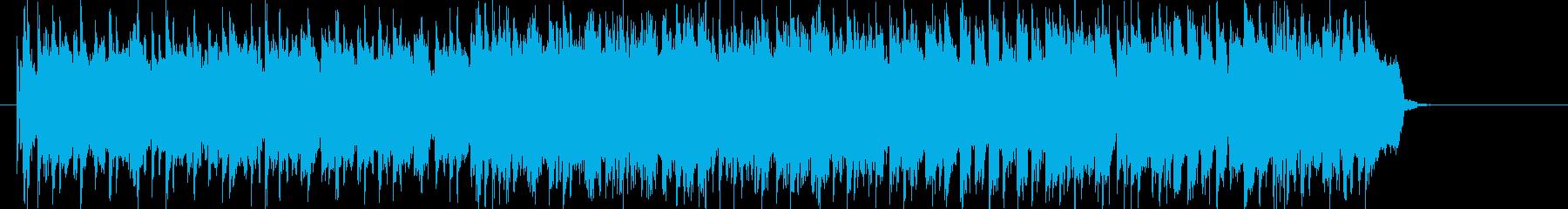 パワフルなギター・ロック・アンサンブルの再生済みの波形