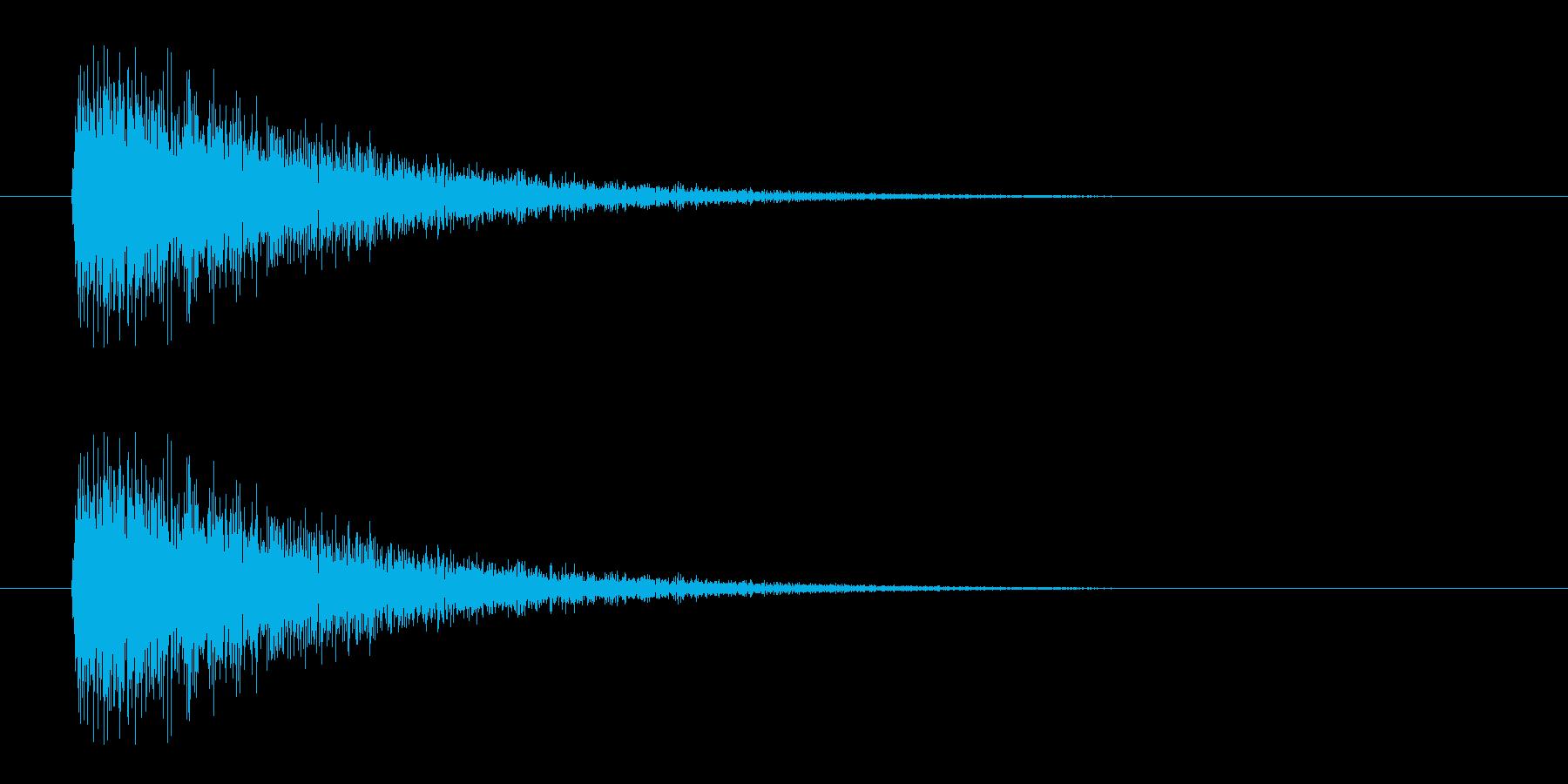 レーザー音-08-3の再生済みの波形