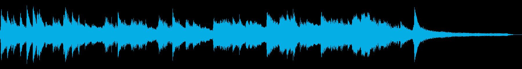 けべれけ千鳥足の和風ジングル25-ピアノの再生済みの波形