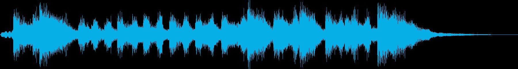 ファンファーレ風のブラスバンドのジングルの再生済みの波形