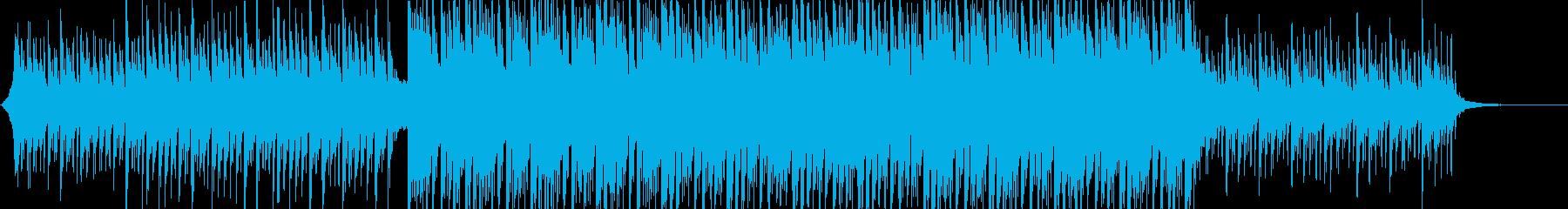 爽やかで前向きなコーポレートBGMの再生済みの波形