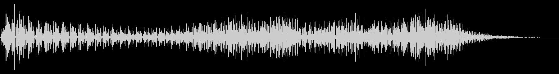 ドゥーン 上昇 ウッドベースの未再生の波形