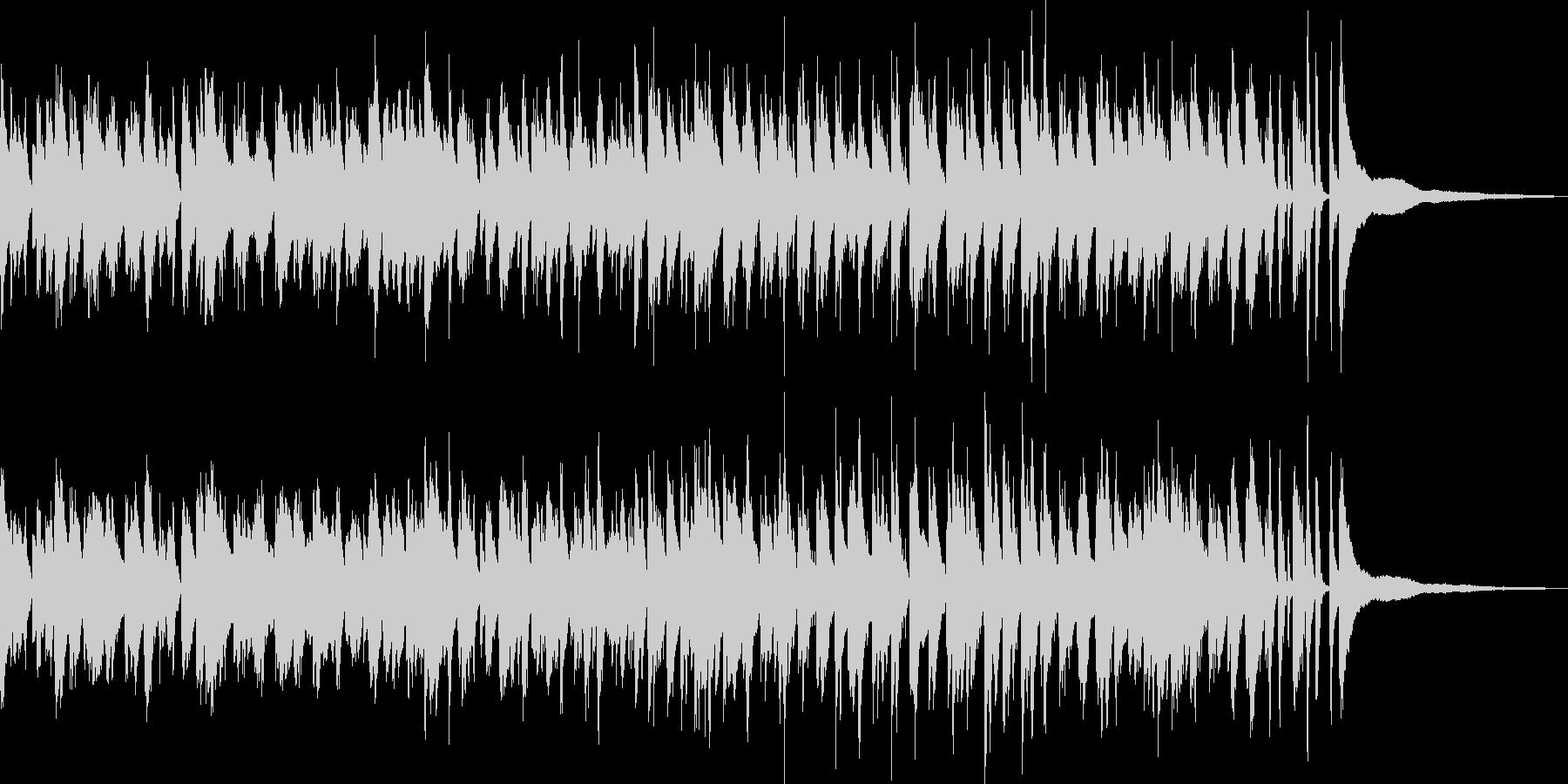 爽やかなラウンジ風ボサノバ/ピアノトリオの未再生の波形