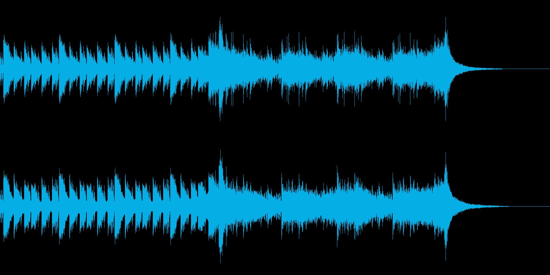 ゲームの戦闘に合いそうな打楽器曲の再生済みの波形