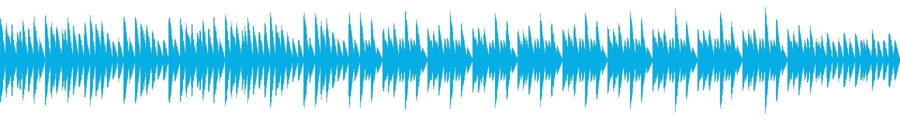 しっとりした雰囲気のレトロゲーム風BGMの再生済みの波形
