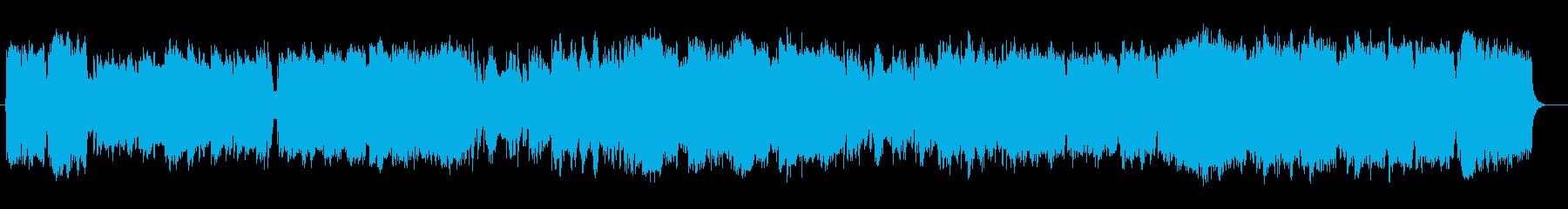 ゆったり明るいシンセサイザーサウンドの再生済みの波形