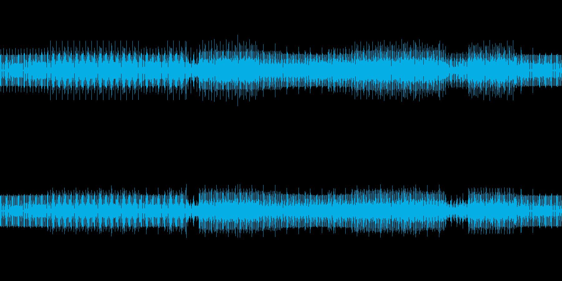 暗めなテクノの再生済みの波形