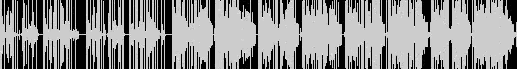 リズムの良いダークなトラップの未再生の波形