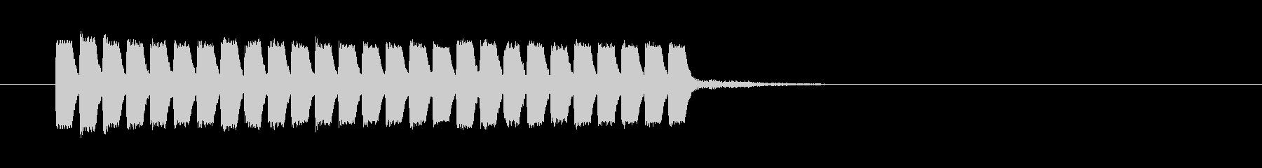レベルアップ低音の未再生の波形