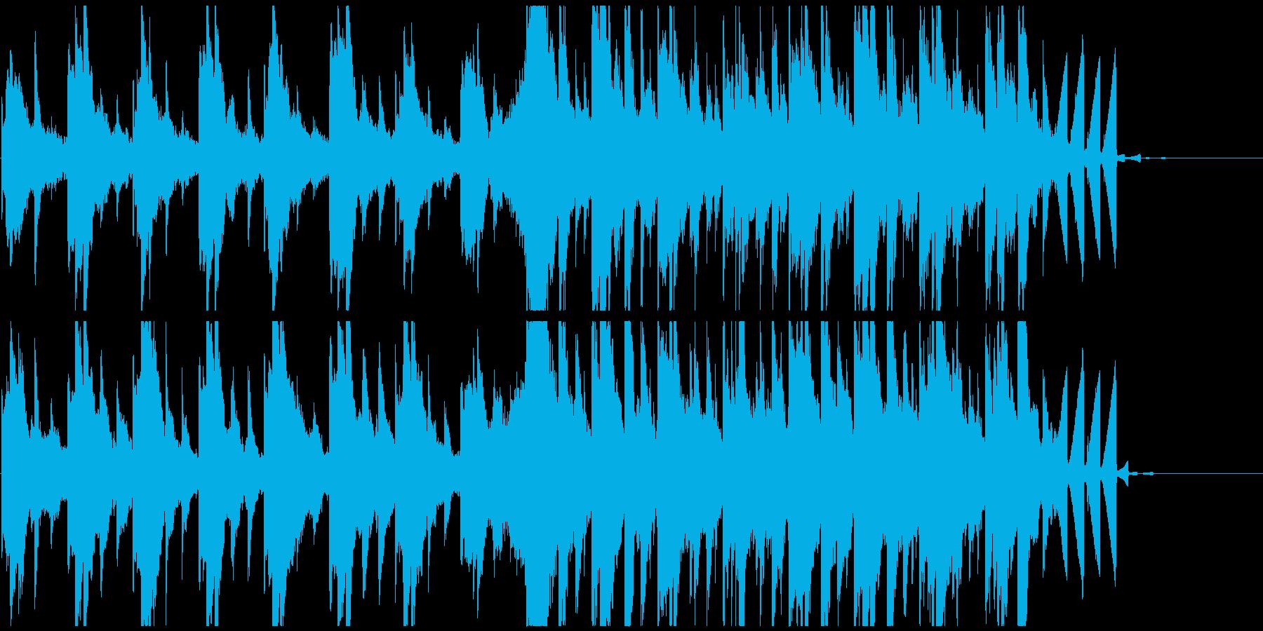 近未来的、神秘的なCM向けの再生済みの波形