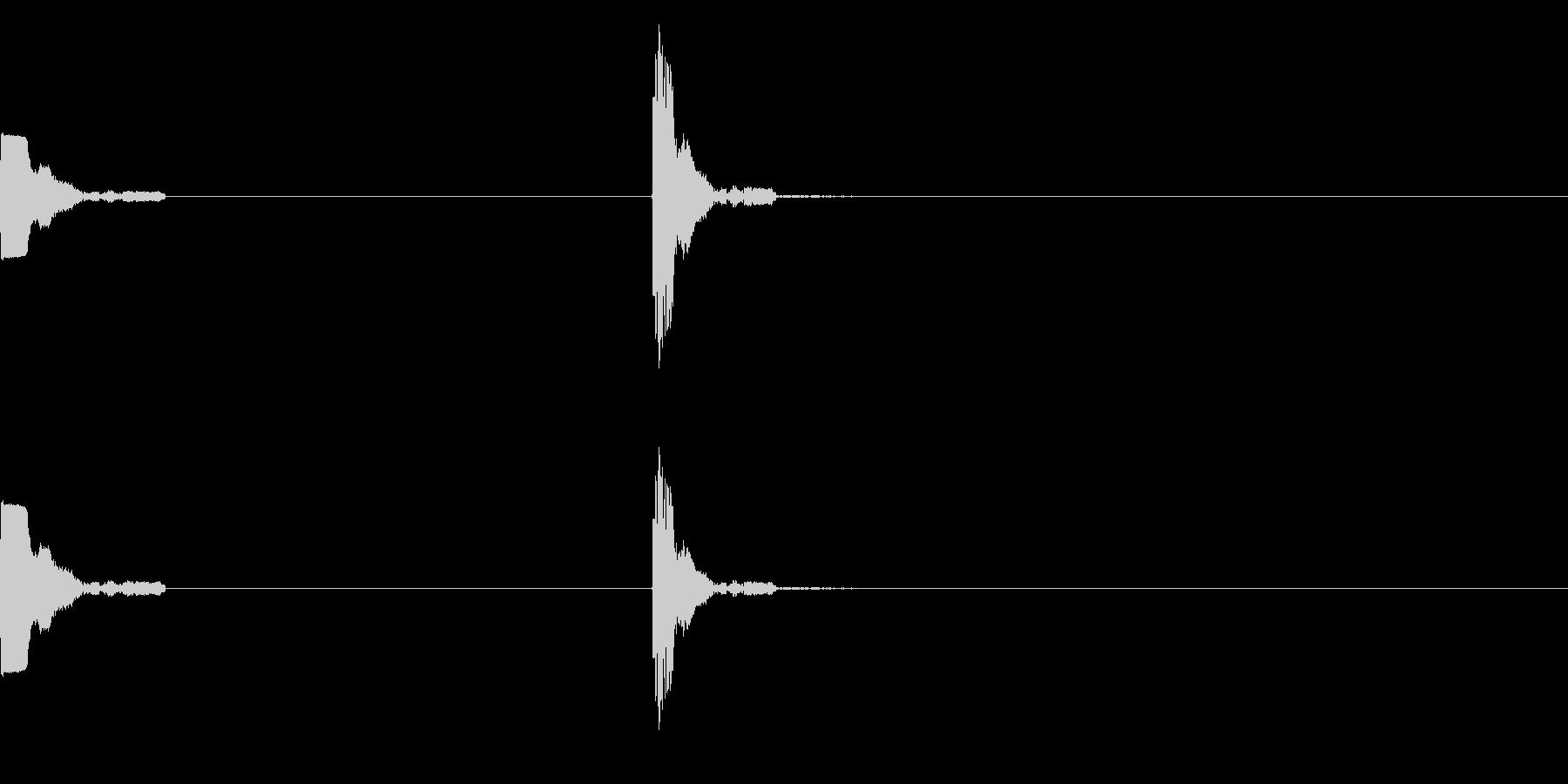 ポッチ(ボタンを押す音)の未再生の波形