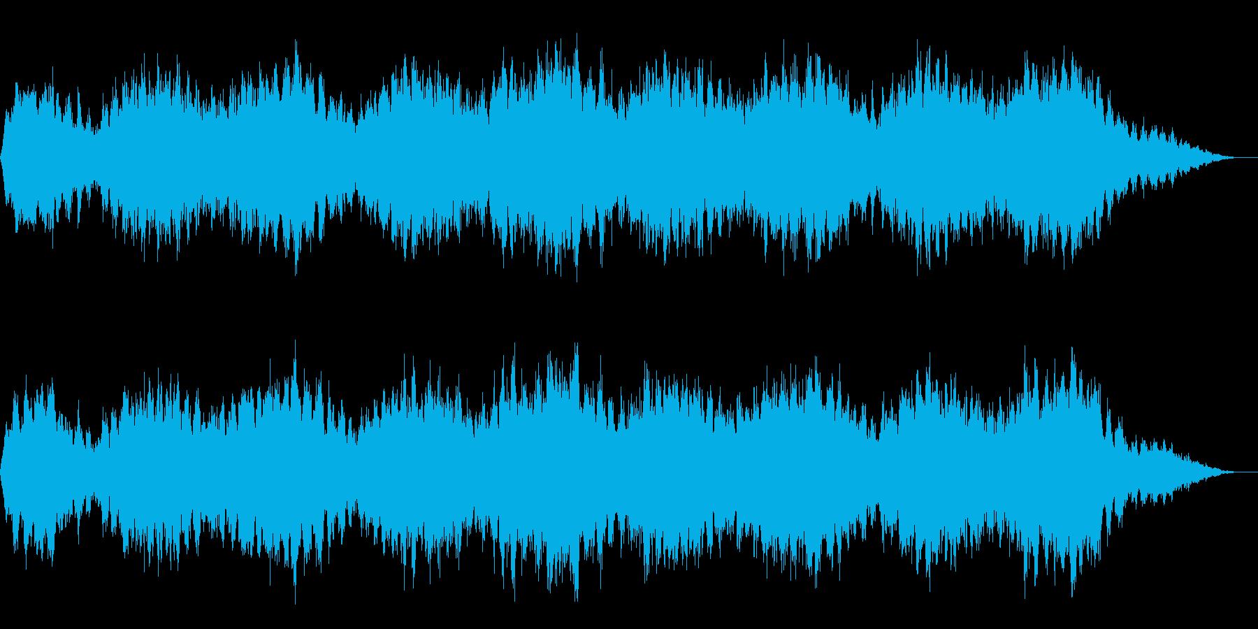 ホラーな演出に 31の再生済みの波形