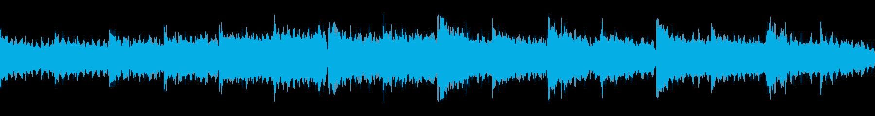 不気味で静かなホラー系BGM(和風)の再生済みの波形