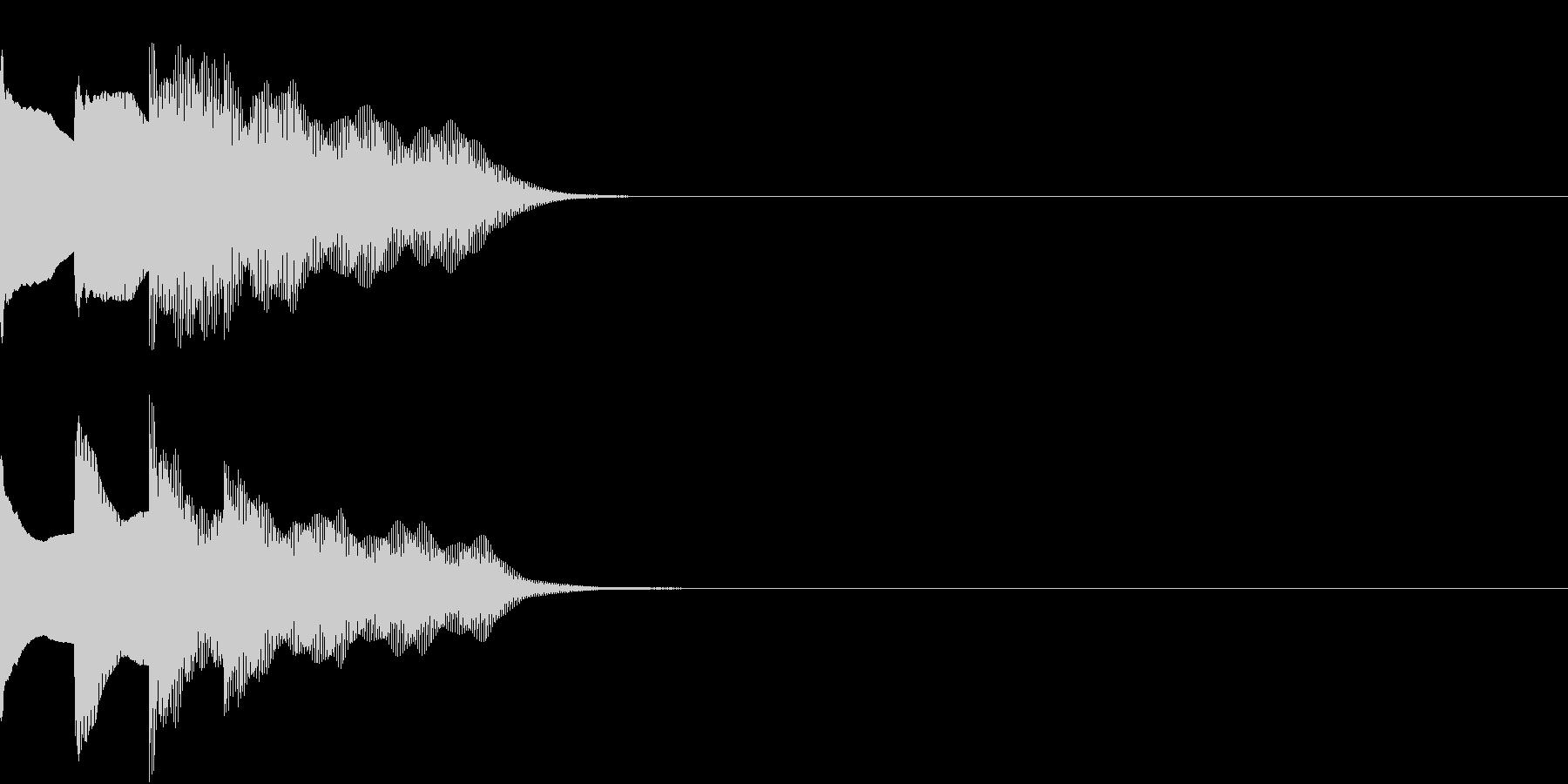 多用途効果音-07A(放送チャイム下降)の未再生の波形