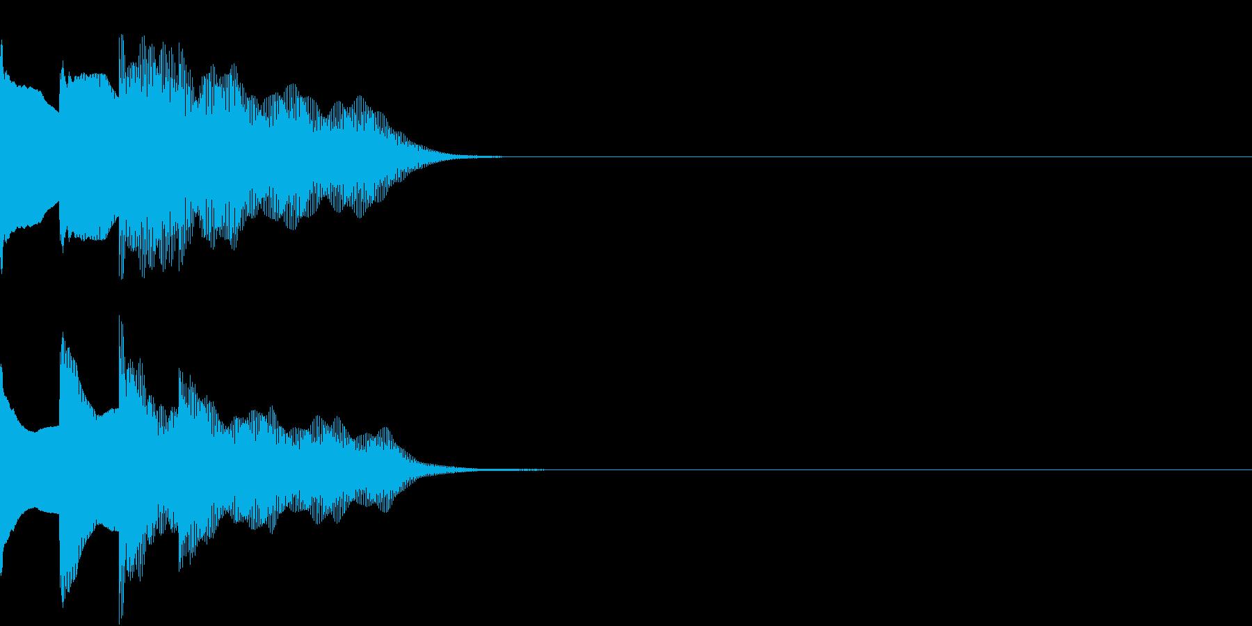 多用途効果音-07A(放送チャイム下降)の再生済みの波形