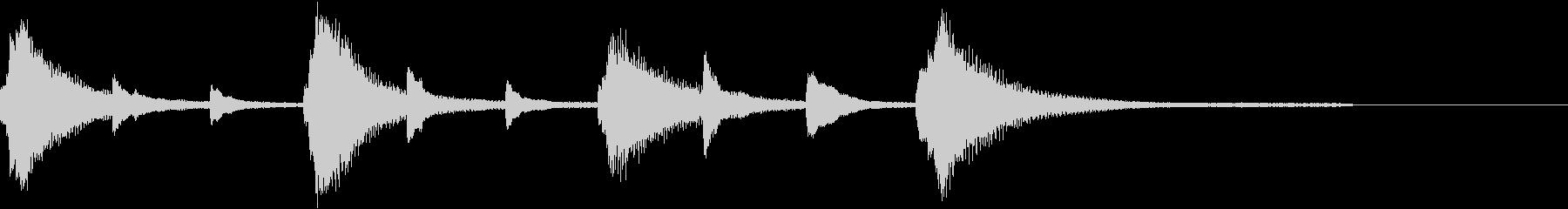 きれいなピアノのジングル6の未再生の波形