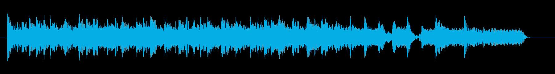 ソリッドなカッティングギタージングルの再生済みの波形