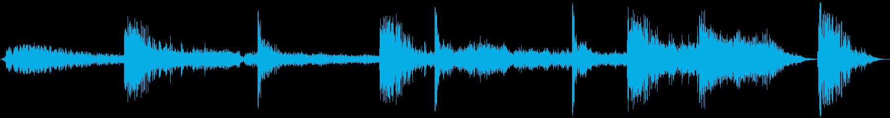 【ホラー 映画 ゲーム】汚染 シーンの再生済みの波形