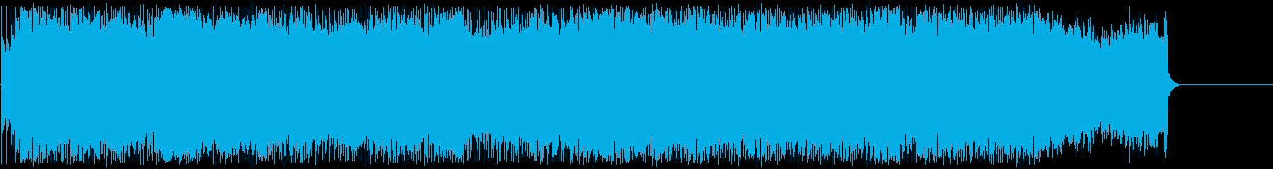 怒りを感じるパワフルなハードロックの再生済みの波形