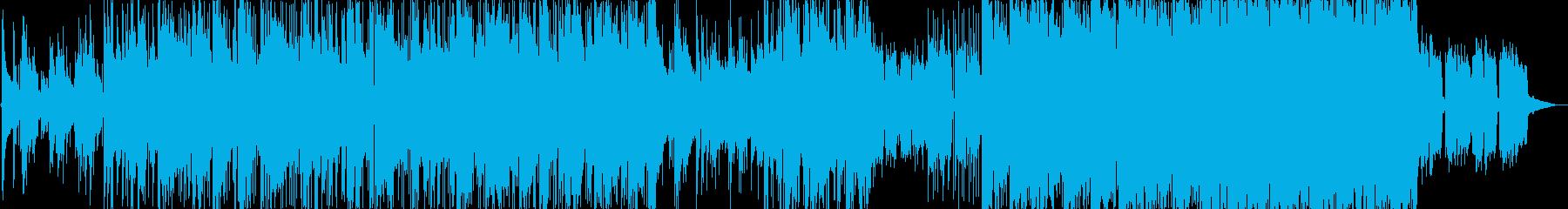 穏やかで優しいエレクトロニカ曲の再生済みの波形