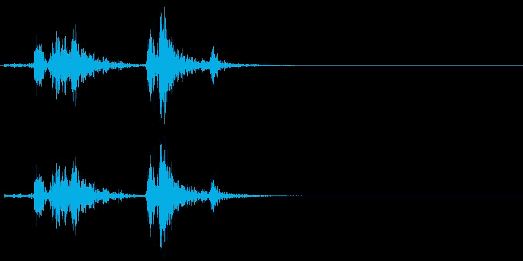 [生音]カシャッ、銃弾を装填する音03の再生済みの波形