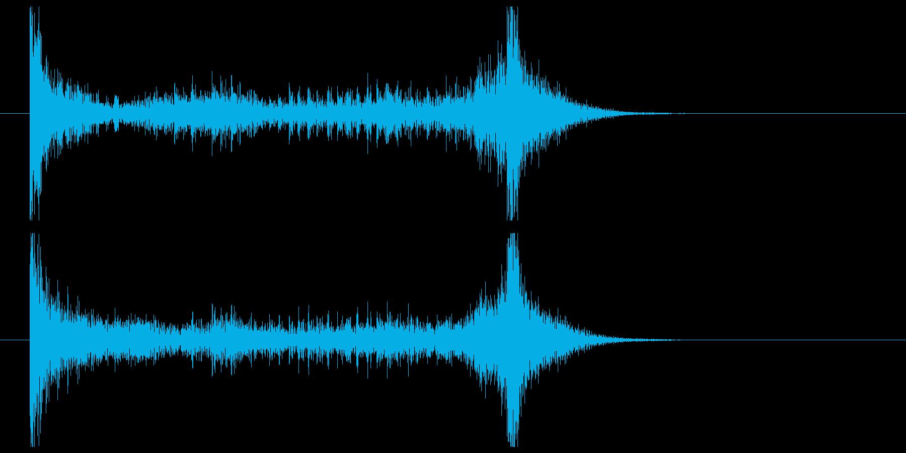 ティンパニーロール(4秒)の再生済みの波形