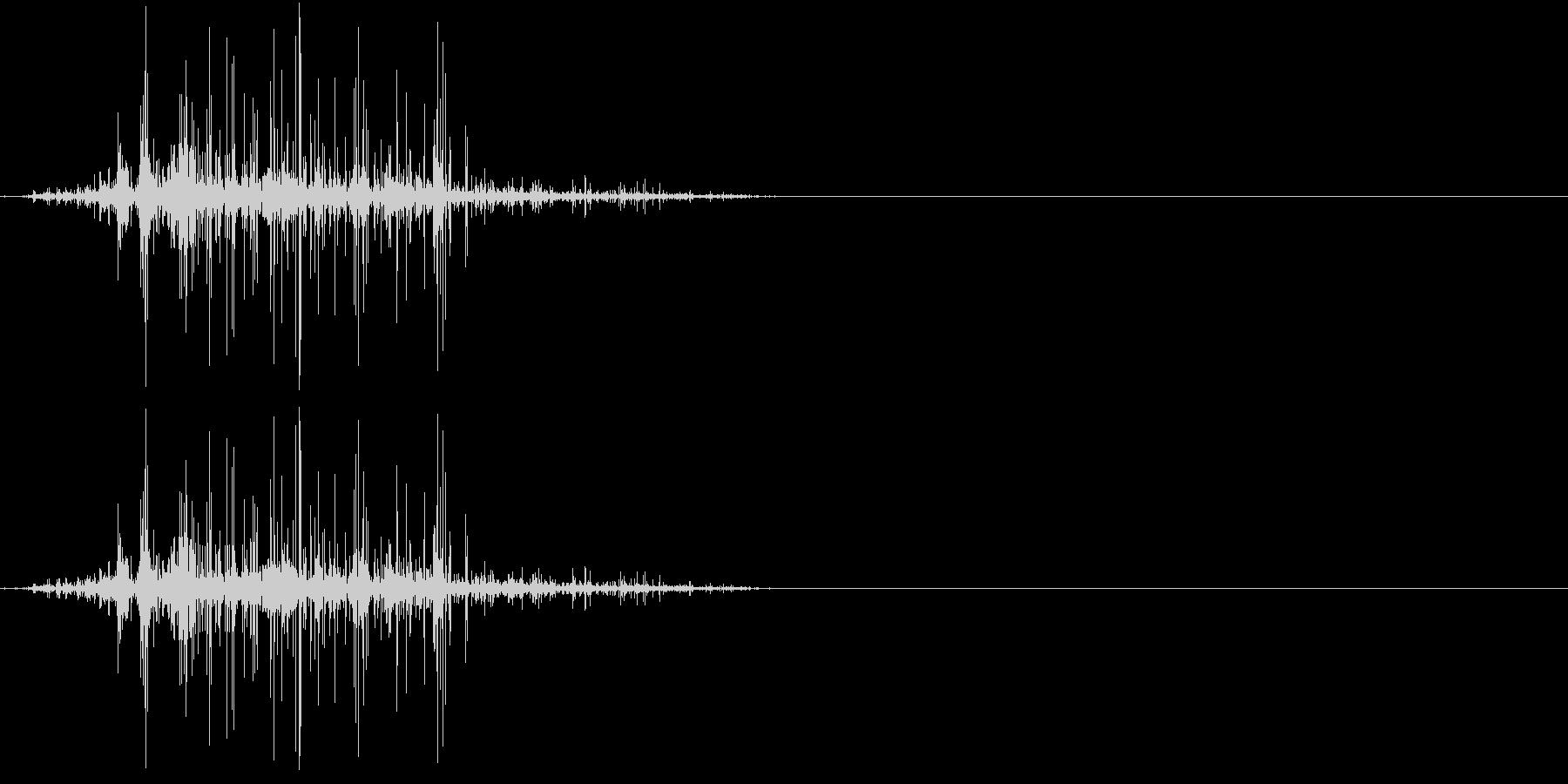 Zombie ゾンビの噛み付き音 1の未再生の波形