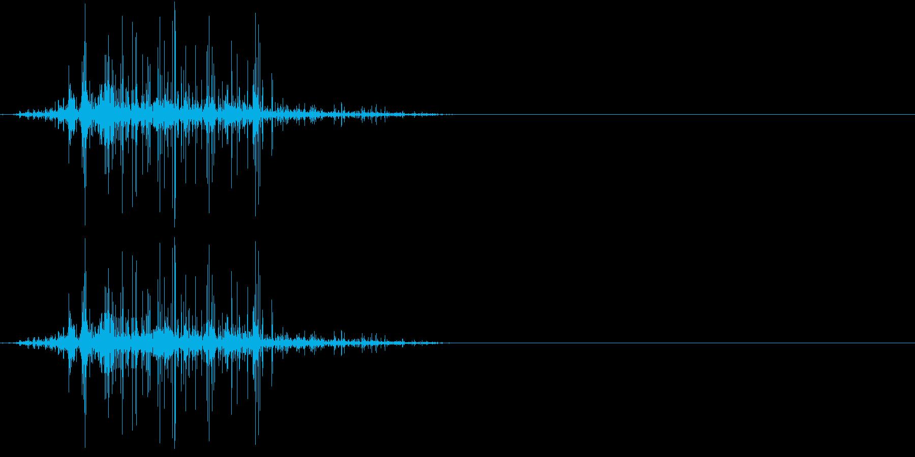 Zombie ゾンビの噛み付き音 1の再生済みの波形