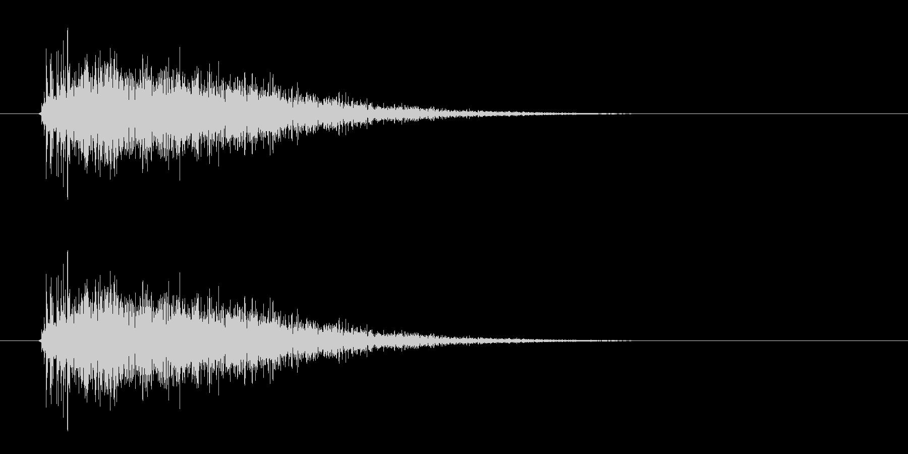レーザー音-12-3の未再生の波形