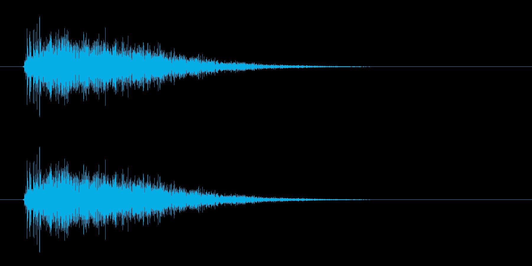 レーザー音-12-3の再生済みの波形