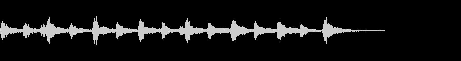 ピッツィカートによるかわいいジングル1の未再生の波形