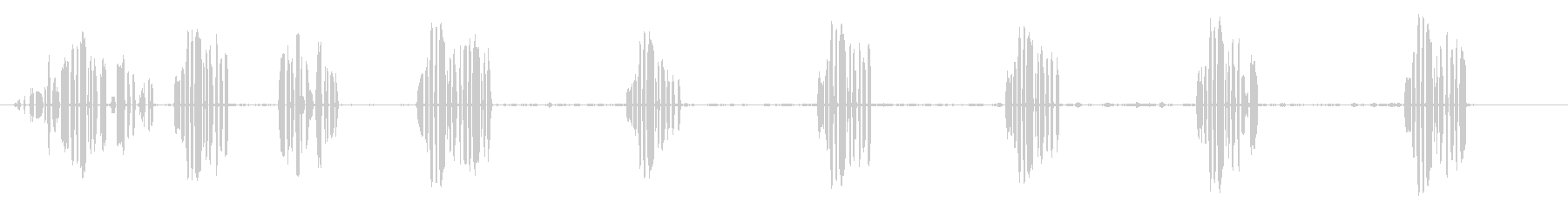 ウグイス3の未再生の波形