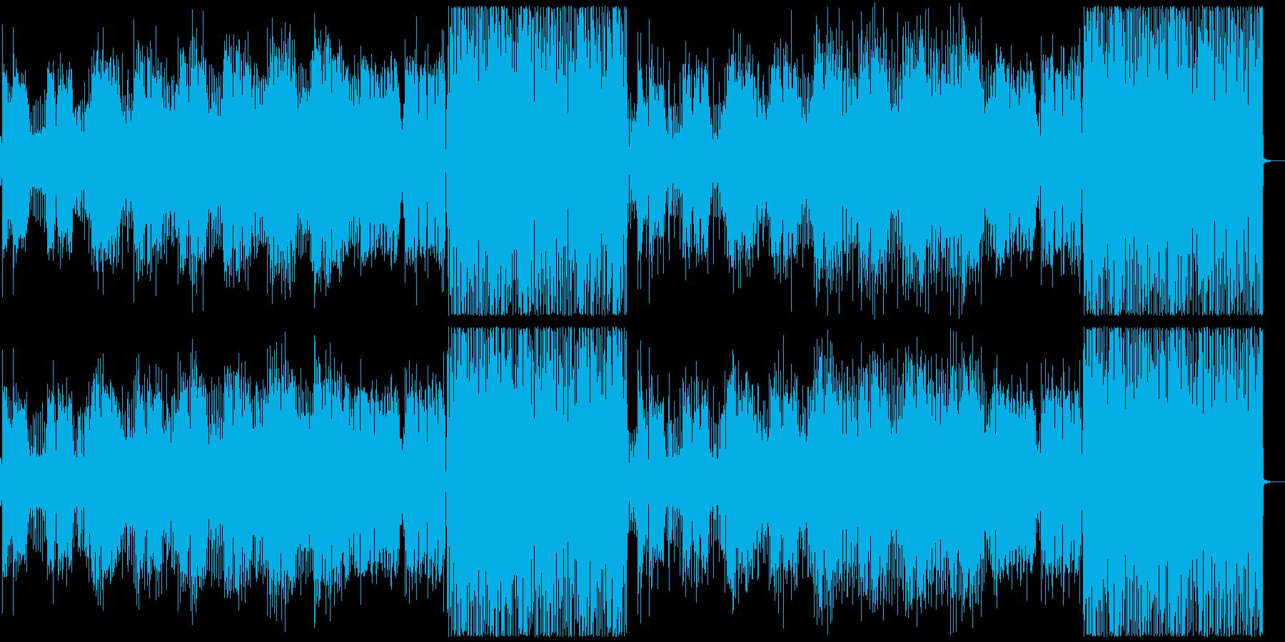 クール/かっこいい洋楽EDM男性ボーカルの再生済みの波形