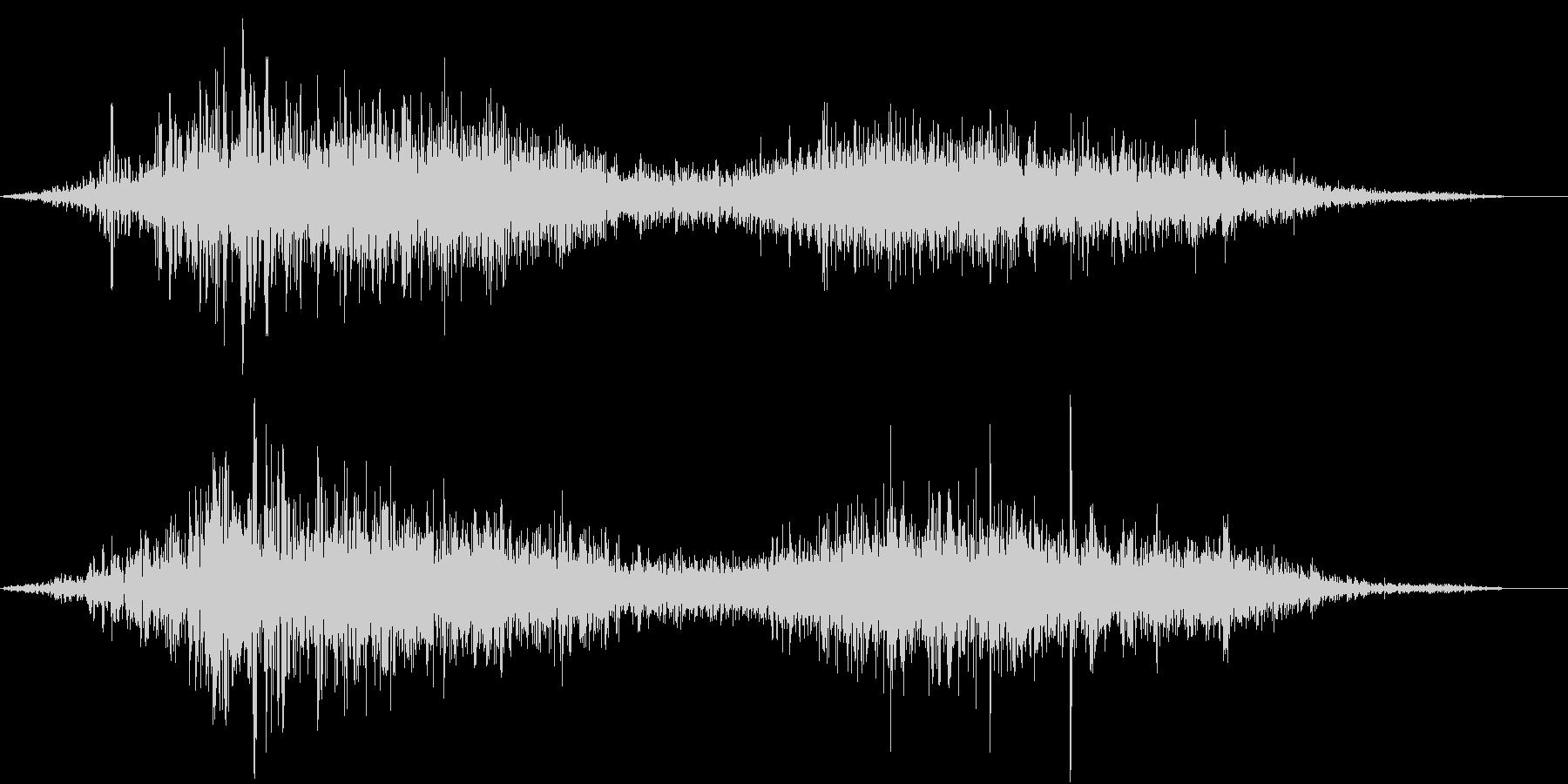【生録音】布団を引きずる音 の未再生の波形