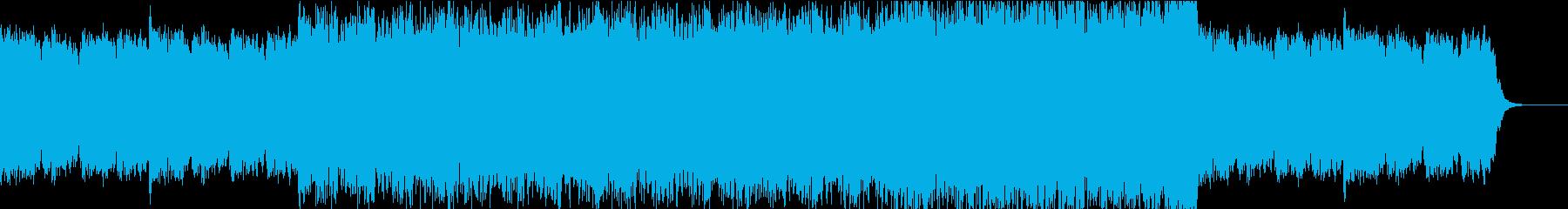 厳かな音像に疾走感を重ねたBGMの再生済みの波形