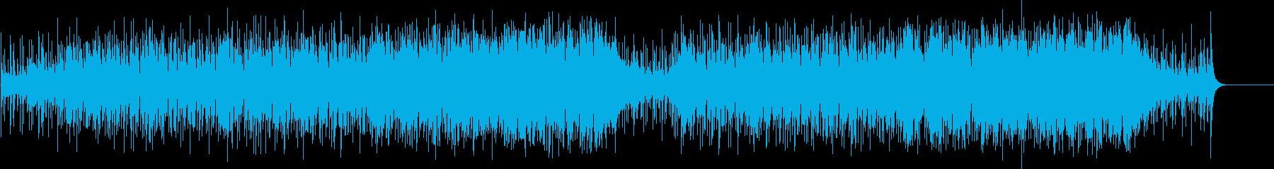 パーカッシブな南米系マイナーフュージョンの再生済みの波形