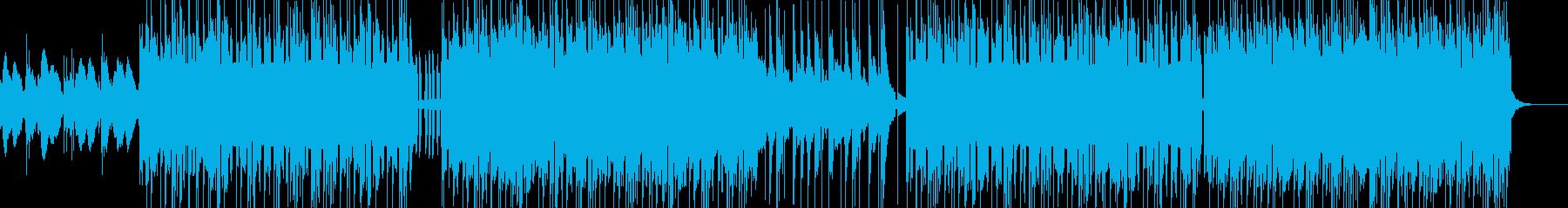 トラップ調のヒップホップの再生済みの波形