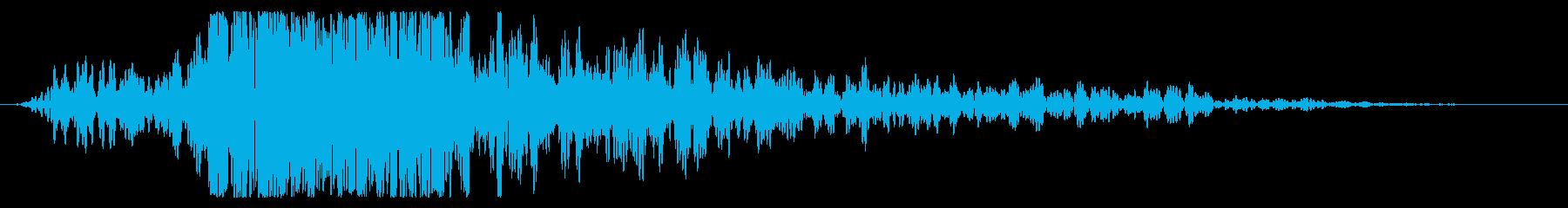 爆発的爆発による低プリランブルの再生済みの波形