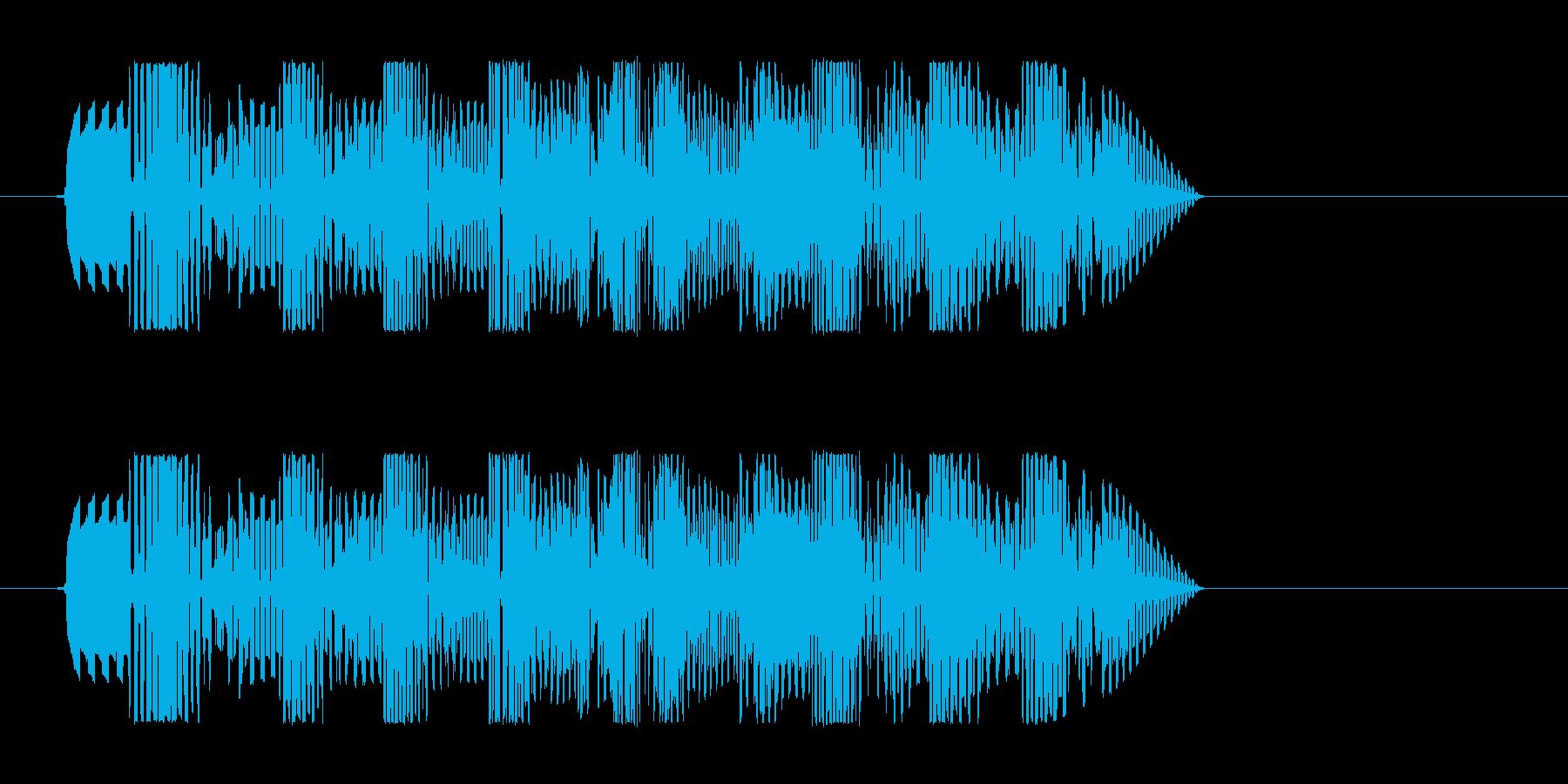 プゥワァォ(スピードを感じる効果音)の再生済みの波形