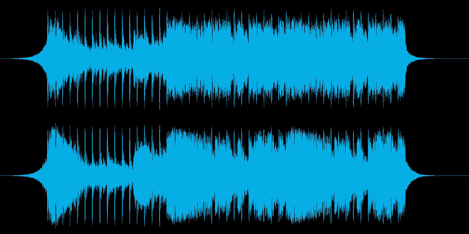 【爽やか】希望、企業VPや、紹介VTRの再生済みの波形