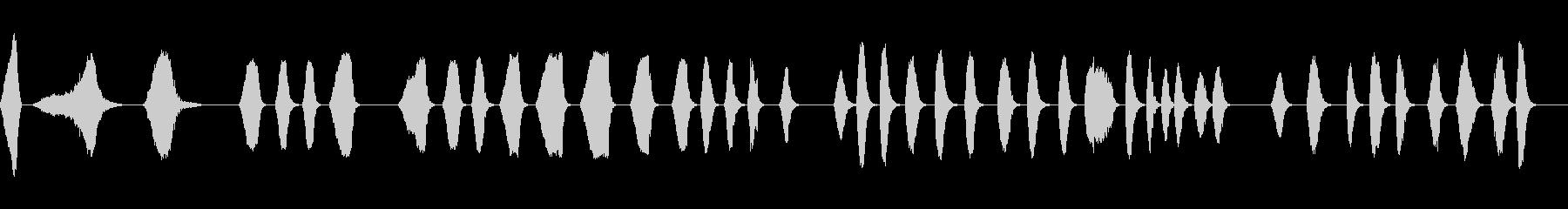 ジェットウォッシュフィルターの未再生の波形