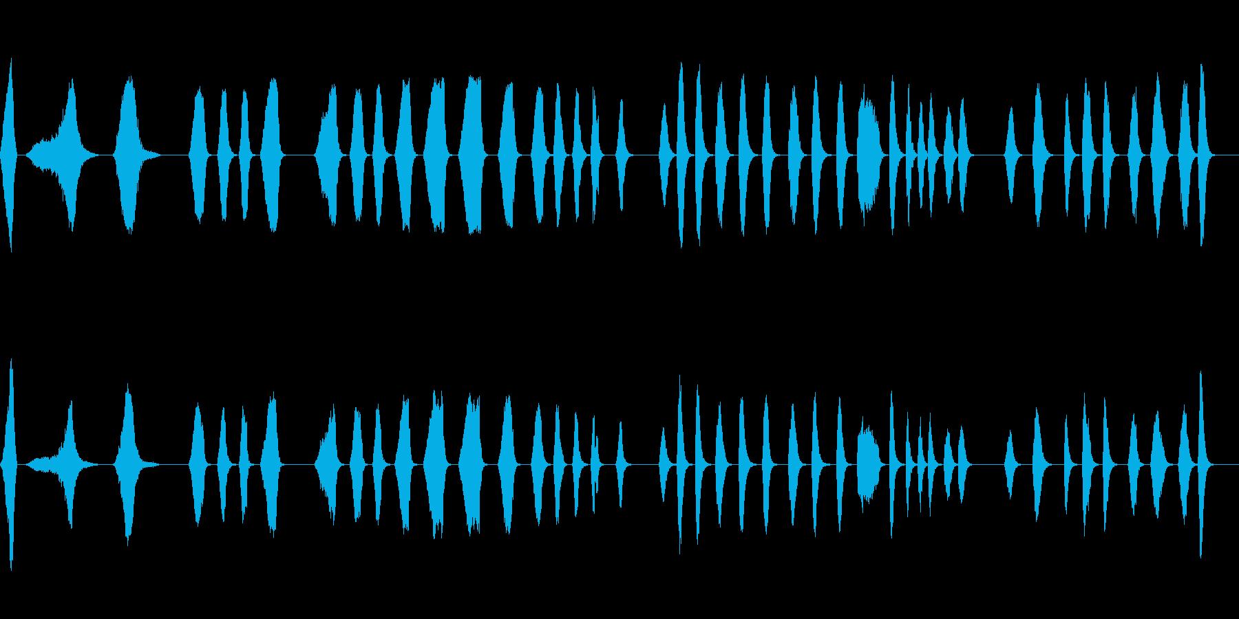 ジェットウォッシュフィルターの再生済みの波形
