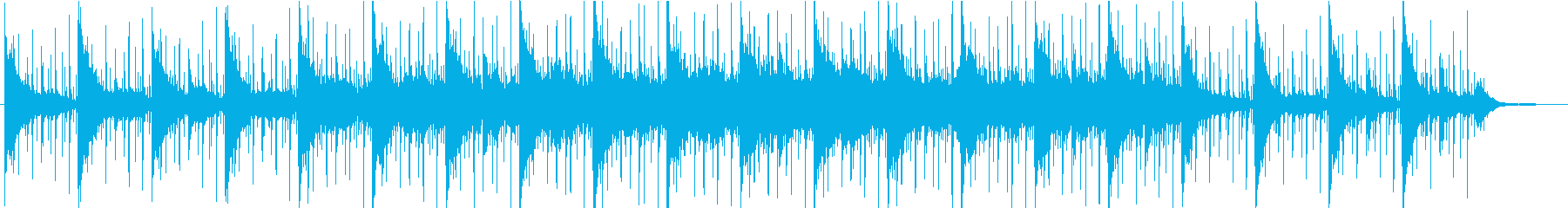 ヨガなどに合うゆるやかなアンビエントの再生済みの波形