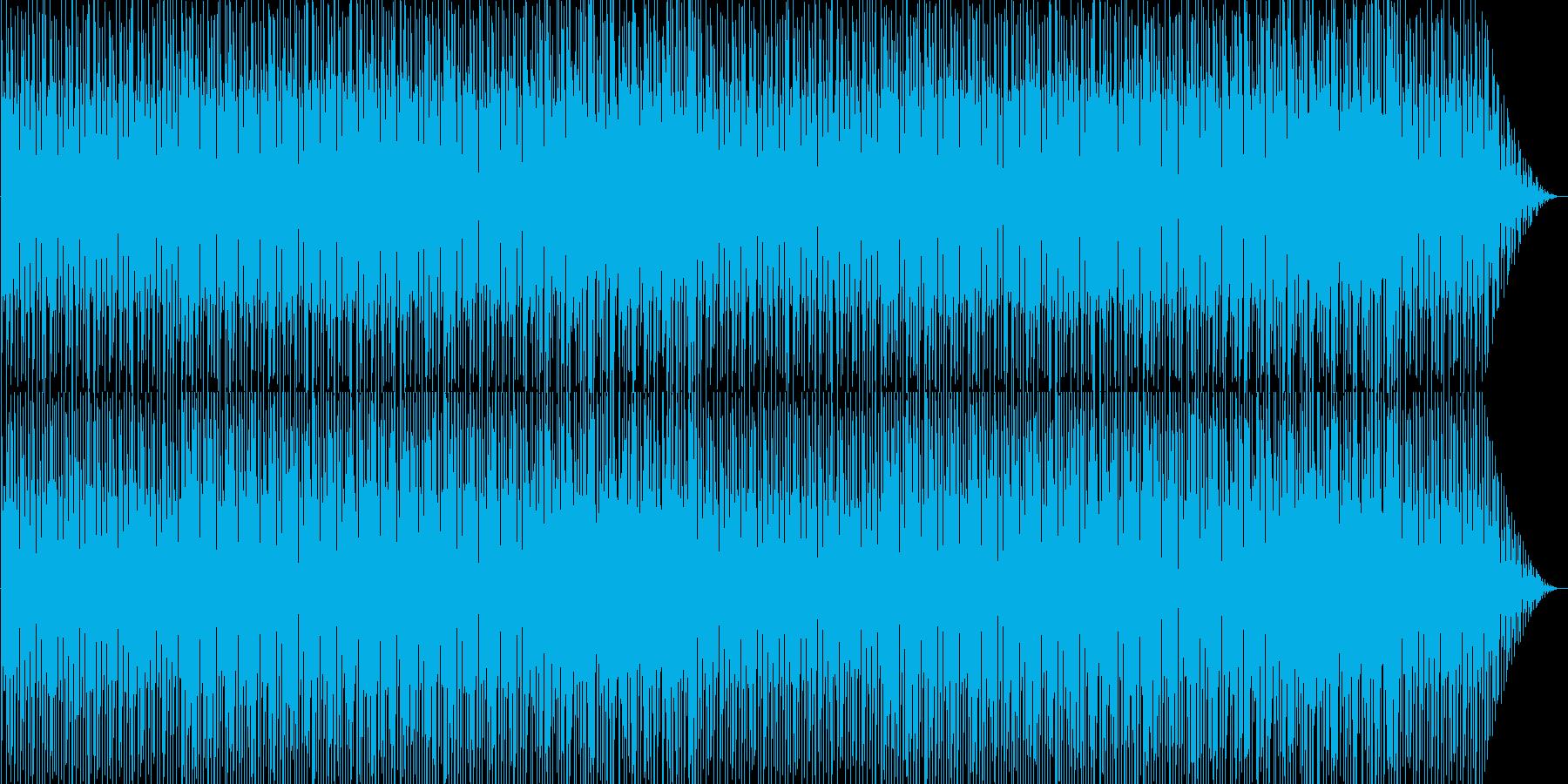 明るく躍動感あるテクノの再生済みの波形
