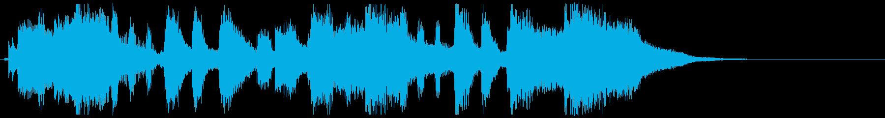 ポップ.キュート.ピアノと歌.ジングルの再生済みの波形